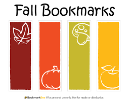 free printable fall bookmarks download the pdf template at http