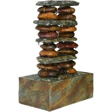 fountains for home decor alpine eternity tabletop fountain stacked rocks tt8002 the