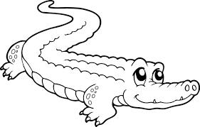 Coloriage Crocodile mignon dessin gratuit à imprimer
