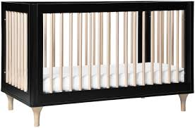 babyletto lolly 3 in 1 crib black and washed natural kids n cribs