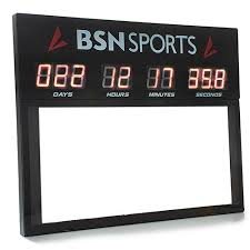 count to day clock bsn sports