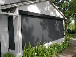 patio ideas roll up patio blind under wooden frame patio
