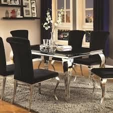 coaster dining room sets enchanting coaster carone contemporary rectangular dining table