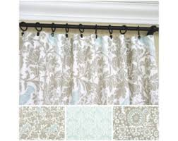 blue curtains etsy
