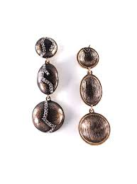cool dangle earrings unique rhinestone plate statement dangle earrings sahasions
