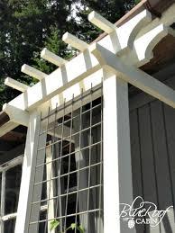 Roof Trellis Blue Roof Cabin Diy Garden Trellis