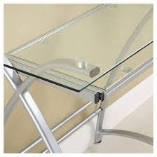 corner computer desk glass and metal saracina home target