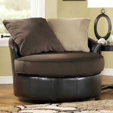 Ashley Furniture Living Room Chairs by Gemini Chocolate Round Swivel Chair By Ashley Furniture Living