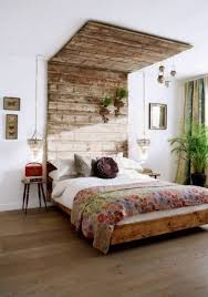 Rustic Wood Headboard How To Build Rustic Wooden Headboard With An Attached Light