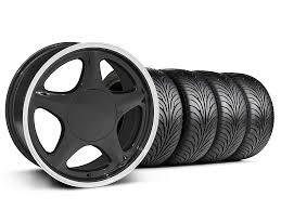 mustang pony wheels mustang pony black w machined lip wheel sumitomo tire kit
