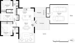 plan maison une chambre plan maison moderne 3 chambres 10 de plain pied ooreka systembase co