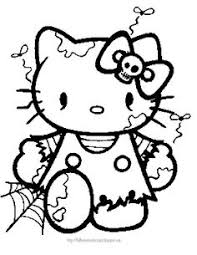 kitty halloween coloring pages u2013 festival collections