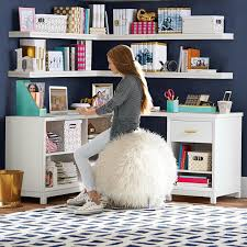 Corner Desk White Rowan Cubby Corner Desk Pbteen