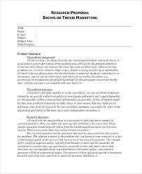 thesis proposal templates 8 free word pdf format download