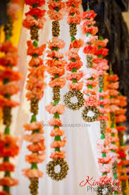 Decorative Garlands Home Unique And Creative Mandap Decor Carnations Bells Indian