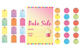 free bake sale signs and labels goodtoknow