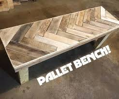 diy herring bone patterned pallet bench chevron patterns
