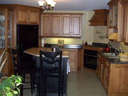 Tops Kitchen Cabinets by Light Cabinets With Dark Island The Black Island And Counter