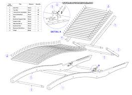 sun lounger plan parts list woodworking plans pinterest
