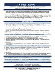 Public Relations Resumes Marketing Resume Examples Resume Professional Writers