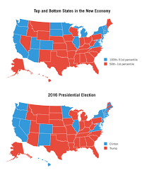 1980 Presidential Election Map by Washington Monthly Trumpism And The New Economy