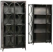 Metal Bookcase With Glass Doors Steel Bookcase With Glass Doors Iron Glass Cabinet Metal Bookcase