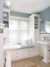 bathroom bench ideas bathrooms chic bathroom with white standing sink also wall