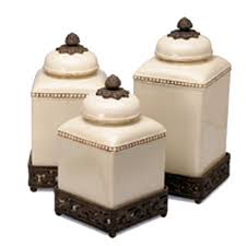 tuscan style kitchen canister sets decorative kitchen canisters jars iron accents