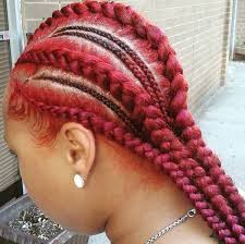 red cornrow braided hair red cornrows black women natural hairstyles