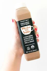 trader joe u0027s cold brew mocha nut latte popsugar food