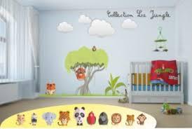 deco chambre enfant jungle décoration murale chambre enfants stickers decoration adhesive et