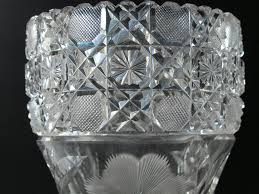 Cut Crystal Vases Antique American Brilliant Floral Period Cut Glass Vase Antique U2013 O U0027rourke