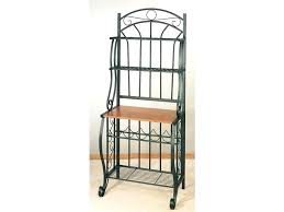 Contemporary Bakers Rack Wrought Iron Bakers Rack With Wine Rack 8258