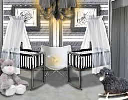 décoration de chambre pour bébé idée déco une chambre de bébé douce et chic pour des jumeaux
