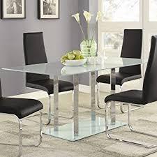 Amazoncom Geneva Contemporary Glass Dining Table Tables - Contemporary glass dining table and chairs
