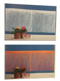 Esszimmer M El Mahler Bistrogardine Fadenvorhang 150 X 60 Cm Faden Gardine 2 Farben