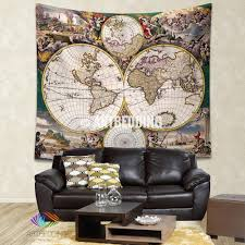 Old World Map by Ancient World Map Wall Tapestry Vintage World Map Wall Hanging