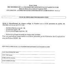 chambre d agriculture isere elections chambres d agriculture résultats complets en isère