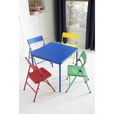 cosco products 5 piece folding table and chair set black cosco kid s 5 piece folding chair and table set walmart com