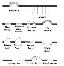 Awning Window Symbol Architectural Blueprint Symbols