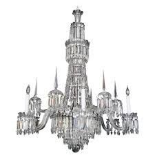 Crystal Chandelier Mid 19th Century English Cut Crystal Chandelier By F And C Osler
