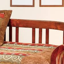 Wood Day Bed Hillsdale Dorchester Solid Pine Wood Daybed In Brown Cherry Finish