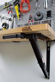 bench for garage folding garage workbench space saver bench solution