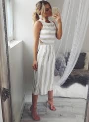 leg jumpsuit s fashion sleeveless striped backless strappy wide leg