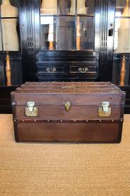 antique wooden and leather trunk leather trunks u0026 luggage