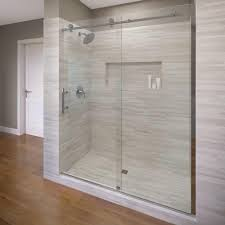 Shower Doors Basco Basco Vinesse 47 In X 76 In Semi Frameless Sliding Shower Door
