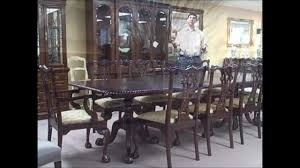 mahogany dining set w 10 chippendale chairs