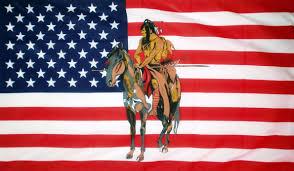 Horse With American Flag Usa Indian U0026 Horse 5 X 3 Flag
