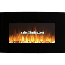 Led Fireplace Heater by Curved Tempered Glass Wall Mounted Electric Fireplace Heater Ef