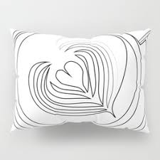 hearts and kitchen collection cappuccino pillow shams society6